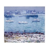 Harbor in Winter Giclee Print by Charles Kaelin