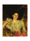 Portrait of a Lady: Sylvia, Daughter of Charles Hunter, Esq. Giclee Print by Antonio Mancini