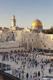 Western Wailing Wall, the Dome of the Rock and Omar Mosque, Old City, East Jerusalem Photographic Print