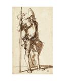 Halberdier Giclee Print by Salvator Rosa