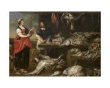 Fishmonger's Stall Giclee Print by Adriaen van Utrecht