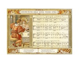 Drink to Me Only with Thine Eyes', Song Illustration from 'Pan-Pipes', a Book of Old Songs, Newly… Giclee Print by Walter Crane