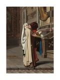 The Embrace of Fra Filippo Lippi and Lucrezia Buti, 1871 Giclee Print by Gabriele Castagnola