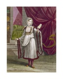 Girl from Kimolos, an Island of the Cyclades, C.1708 Giclee Print by Jean Baptiste Vanmour