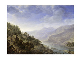 View on the Rhine, 1656 Giclee Print by Herman the Younger Saftleven