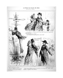 Caricatures of the Salon Des Refuses of 1864 Giclee Print by Alfred Darjoy