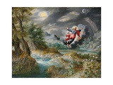 God Creating the Sun, the Moon and the Stars in the Firmament, C.1650 Giclee Print by Jan the Younger Brueghel