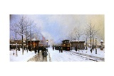 Porte Maillot in Winter, Paris, 1899 Giclee Print by Luigi Loir