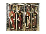 Saints Gregory, Jerome, Ambrose and Augustine, Detail of the Rood Screen, St Catherine's Church,… Giclee Print