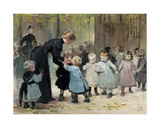 In the Playground Giclee Print by Jules Jean Geoffroy