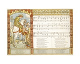 The Bailiff's Daughter from Islington', Song Illustration from 'Pan-Pipes', a Book of Old Songs,… Giclee Print by Walter Crane