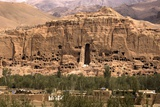 The Bamiyan Valley with Buddha Cliff, Afghanistan Photographic Print