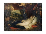 Diana Sleeping Giclee Print by Thomas Stothard