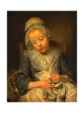 Young Knitter Asleep, C.1759 Giclee Print by Jean Baptiste Greuze