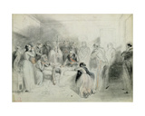 The Final Moments of the Duke of Orleans after the Accident at Neuilly, 13th July 1842 Giclee Print by A Provost