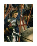 Detail of St. George, from the Knights of Christ, from the Left Side of the Ghent Altarpiece, 1432 Giclee Print by Hubert & Jan Van Eyck