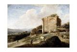 Landscape with a Roman Ruin, C.1620-38 Giclee Print by Charles-Cornelisz de Hooch