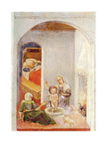 The Birth of St. Nicholas, from Stories of St. Nicholas of Bari, C.1425 Giclee Print by Gentile Da Fabriano