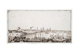 View of the Harbour of La Rochelle with Galleons Firing a Salute Giclee Print by Jacques Callot
