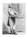 Hot Pies, 1737, Engraved by French School (18th Century) Giclee Print by Edme Bouchardon