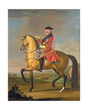 George II at the Battle of Dettingen Giclee Print by David Morier