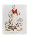 French Peasant of the 16th Century, Illustration from 'Costumes Civils Et Militaires Francais a… Giclee Print by after Chevignard