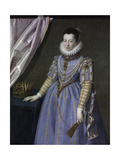 Portrait of Cristina Di Lorena, Grand Duchess of Tuscany, 1590 Giclée-tryk af Scipione Pulzone
