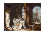 Capriccio Interior with Ruins, C.1750 Giclee Print by Giovanni Paolo Gaspari