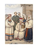Winter Costume of a Family of Notable Citizens, District of Voronege, C.1840s Giclee Print by S. Pavloff