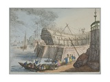 View of Brunswick Dock, 1806 Giclee Print by Thomas Rowlandson