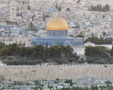 A View of Jerusalem with Temple Mount and the Dome of the Rock Photographic Print