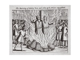 The Burning of Henry Voes and John Esch, Friers Augustines, Illustration from 'Acts and… Giclee Print