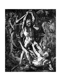 Hercules and Cacus, 1588 Giclee Print by Hendrik Goltzius