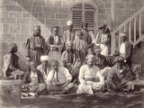 Group of Fifteen Camp Attendants to the Prince of Wales's Party at Beirut, 1862 Photographic Print by Francis Bedford