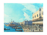 View of Venice with the Salute, C.1735 Giclee Print by  Canaletto