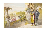 Cassio Speaks in Othello, Act III, Scene III, 'Madam, I'Ll Take My Leave', from 'The Illustrated… Giclee Print by Robert Dudley