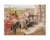The Musician Sings in the Two Gentlemen of Verona, Act IV, Scene II, 'Who Is Sylvia', from 'The… Giclee Print by Robert Dudley