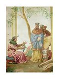 A Chinese Prince before a Soothsayer Giclee Print by Giandomenico Tiepolo