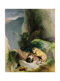 Attachment, 1829 Giclee Print by Edwin Henry Landseer