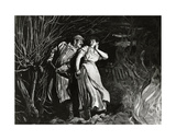 Tess Harassed by Alec D'Urberville, Plate 21 from the Monthly Serialisation of 'tess of the… Giclée-Druck von Sir Hubert von Herkomer