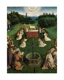 The Adoration of the Mystic Lamb, from the Ghent Altarpiece, Detail of Lower Half of Central… Giclee Print by Hubert & Jan Van Eyck