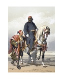 Eunuch of the Seraglio on a Fine Arab Horse, 1865 Giclee Print by Amadeo Preziosi