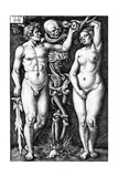 Adam and Eve, Engraved by Hans Sebald Beham, 1543 Giclee Print by Barthel Beham