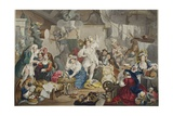 Strolling Actresses Dressing in a Barn, Illustration from 'Hogarth Restored: the Whole Works of… Giclee Print by William Hogarth