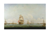 Victory Leaving Portsmouth Giclee Print by Captain William Elliott