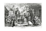 """Out-Door Life"", Illustration for a Feature Story, 'A Community of Outcasts', from 'Appleton's… Giclee Print"