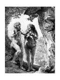 Adam and Eve, 1638 Lámina giclée por  Rembrandt van Rijn