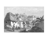 King Aggri's House at Cape Coast Castle, 1848 Giclee Print by William Allen