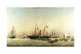 Queen Victoria Landing at Brighton, C.1843 Giclee Print by Richard Henry Nibbs