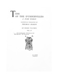 Title Page to 'tess of the D'Urbervilles' by Thomas Hardy, Edition Published in 1892 Giclee Print